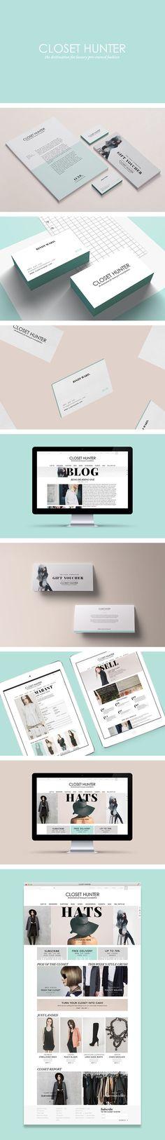 Closet Hunter branding by Smack Bang Designs #Branding #BusinessCards…