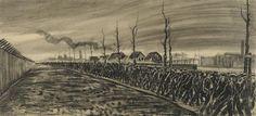 Arbeiders die de fabriek verlaten - Dirk Hidde Nijland (1918)