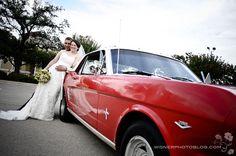 mustang for wedding car