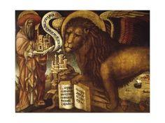 Giclee Print: Lion of St Mark's, Symbol of Venice by Domenico Veneziano : 24x18in