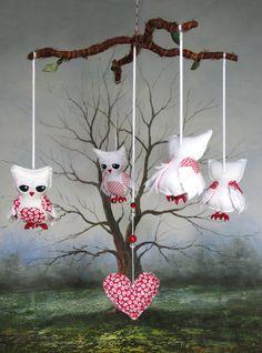 Owls nursery mobile by Lilliput Loft