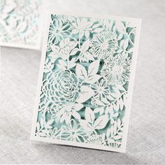 floral laser-cut #invitations from B Wedding Invitations http://ruffledblog.com/laser-cut-stationery-from-b-wedding-invitations #weddinginvitations