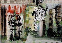cinematica-2.jpg - Peinture,  145x100 cm ©2015 par dario berterreche -                                                        Expressionnisme abstrait, Toile, Art abstrait