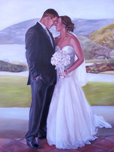 Custom Portrait - Oil Painting - Wedding by MissysArt on deviantART