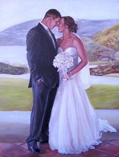 Custom Portrait - Oil Painting - Wedding by MissysArt on deviantART