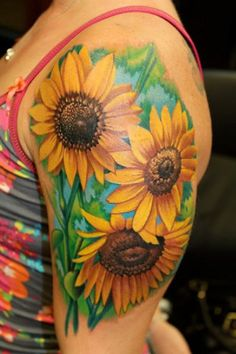 20 Unique Sunflower Tattoos And Their Mysteries   Full of unique sunflower tattoos, this gallery should inspire you and teach you way more about this flower than you ever thought possible!