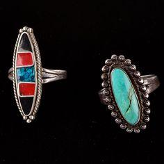 Pair of Sterling Silver Rings