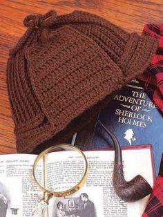 such a cute Sherlock hat :) free pattern.
