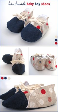 Things For Baby Boys (A Virtual Baby Shower) - Baby Boy Shoes - Emmaline Bags and Patterns