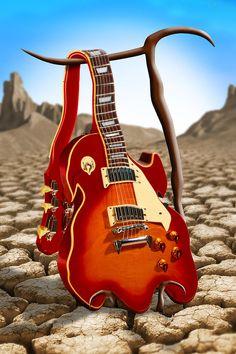 Soft Guitar Photograph by Mike McGlothlen    photo manipulation/digital