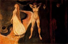 """artist-munch: """" The Three Stages of Woman (Sphinx). by Edvard Munch Size: cm Medium: oil on canvas"""""""