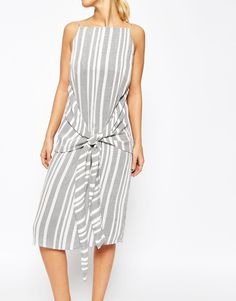Image 3 ofASOS Knot Front Stripe Dress