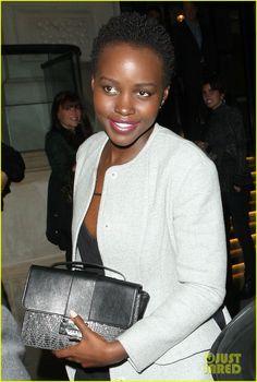 Lupita Nyong'o Reveals That She Shaved Her Head at 19 | lupita nyogno rosamund pike downing street 02 - Photo