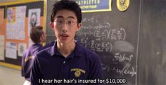 """""""I hear her hair's insured for $10,000."""" 