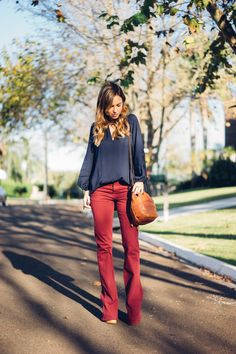 Vista o Look Fashion Days, Fashion Outfits, Red Pants, Work Looks, Work Attire, Casual Fall, Casual Looks, Autumn Winter Fashion, Just In Case