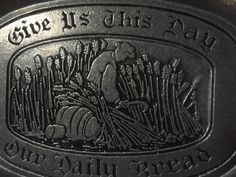 A personal favorite from my Etsy shop https://www.etsy.com/listing/247329348/vintage-pewter-tray-give-us-this-day-our