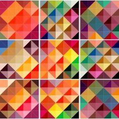 Adesivo Decoração Azulejo - ColorFull cozinha Retro, Backsplash, Iphone Wallpaper, Origami, Print Patterns, Tiles, Palette, Graphic Design, Prints