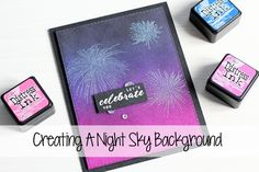 Hello there, in my video today I am creating a night sky background with Distress Inks, along with The Ton stamps and Nuvo embossing powders. Links to the pr...