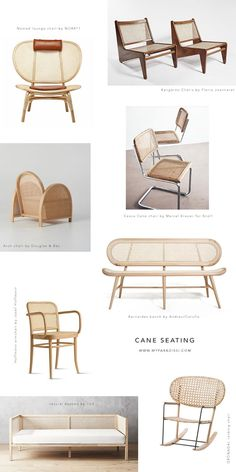 Cane seating, chairs