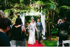 Rainforest wedding venue Pethers Rainforest Retreat in Mt Tamborine. Photography by The Arched Window.