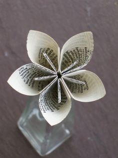 book page flower #paper #crafts