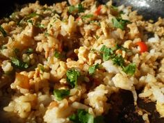 Spicy Basil Fried Rice Love this recipe. Will be making it for the second night in a row per boyfriend's request. Thai Spicy Basil Fried Rice Recipe - Love Is Love Is may refer to: Basil Fried Rice, Thai Fried Rice, Thai Rice, Spicy Rice, Rice Recipes, Asian Recipes, Cooking Recipes, Healthy Recipes, Ethnic Recipes