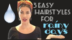 3 Easy Retro Hairstyles for Rainy Days⎜VINTAGE TIPS & TRICKS - YouTube