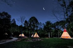 TeePee Camping at North Georgia Canopy Tours in Lula (Photo Credit: NGCT)