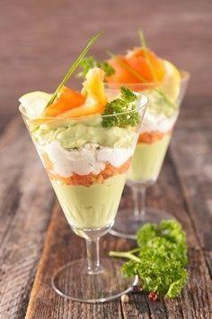 Verrine fromage frais : une recette de apéritifs facile et gourmande.