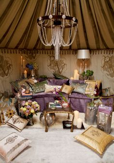 Like the inside of a genie bottle= woman cave