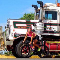 #Repost @emmabilham ・・・ Found my directeur sportif follow car for tomorrow's race! • • #bikegirl #truckergirl #trichick #outbackaustralia #cantscareme