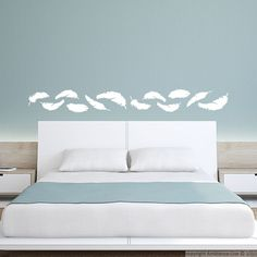 Stickers muraux pour chambre - Sticker mural plumes | Ambiance-live.com