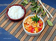Tajskie czerwone curry z indykiem