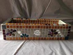 Annemin singer dikiş makinası çekmecesiydi,mozaiklendi kaktüs saksısı oldu ;) Suitcase, Briefcase