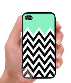 Mint Black White Chevron Aztec Rubber Silicone PHONE Case For iPhone 6S SE 5S 5C #UnbrandedGeneric