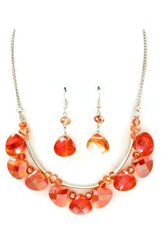 Teardrop Mia Necklace Set on Emma Stine Limited. Love this color along with everything else about this piece.