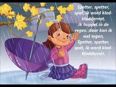 Herfstliedje - YouTube, huppelen in de regen, kleuteridee.nl