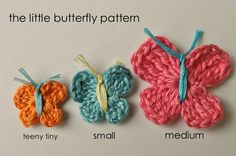 crochet butterflies with embroidery thread
