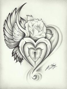 Heart Rose tattoo | SMS FUN Zone