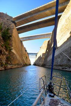Sailing the Corinth Canal, Greece