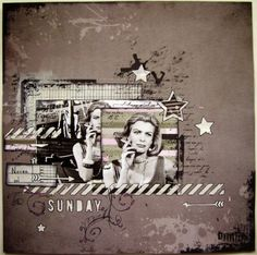 Scrapbook layout - Never on Sunday  #scrapbooklayout #scrapbooking #7dotsstudio #Ποτέ την Κυριακή