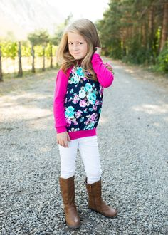 Floral Hoodie, boutique, online shopping, online boutique, kids clothing, hoodie, Ryleigh rue