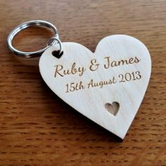 Tyro Laser Cutting & Engraving   Personalised Wooden Valentine's Keyring