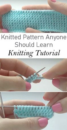 Knitted Pattern Anyone Should Learn - Tutorial - Stricken ist so einfach wie . - Knitting for beginners,Knitting patterns,Knitting projects,Knitting cowl,Knitting blanket Beginner Knitting Patterns, Knitting Basics, How To Start Knitting, Easy Knitting, Loom Knitting, Knitting Stitches, Knit Patterns, Stitch Patterns, Knitting Ideas