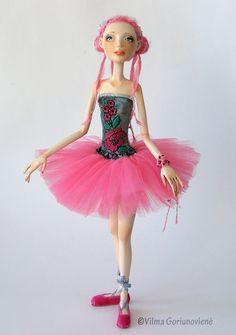OOAK Art Doll Ready for a dance by VilmaDollsHouse on Etsy