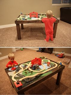 Our new DIY train table