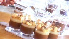 Crème prise choco-café, pulpe de poire et doigts de dame cassés - Recettes - À la di Stasio
