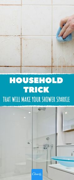 Make your shower sparkle with this easy household trick #household #sparkling #clean