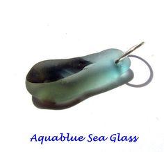 Drilled English Multi Sea Glass Pendant   by aquablueseaglass $11.99