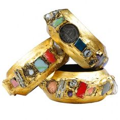 Alexandra Abraham, bangles from Thames trash, and gold leaf
